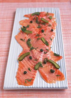 Marinated Salmon With Capers and Gherkins