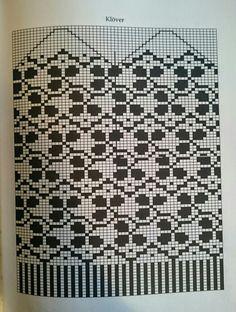 Klöver Mittens Pattern, Knit Mittens, Knitting Charts, Knitting Patterns, Filet Crochet, Knit Crochet, Scandinavian Pattern, Fair Isle Knitting, Crafts
