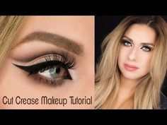 Soft Neutral Cut Crease Makeup Tutorial - Makeup Geek Shadows - YouTube