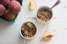 AIP peach crumble for 2    Dairy free/grain free/gluten free/egg free/refined sugar free