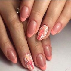 110+ best Peach colored nails 2018