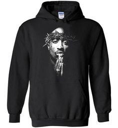 df21d9a9e Tupac 2pac Shakur Makaveli Death Row hiphop gangsta Swag, v24, Gildan Heavy  Blend Hoodie