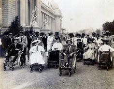 People riding Roller Chairs at the 1904 World's Fair.