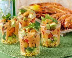 Mexican Corn and Prawn Salad