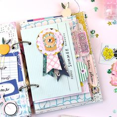 5 Ways to Add Interest to your Mini Albums – Crate Paper (Rosey Posey Studio) Crate Paper, Mini Scrapbook Albums, Scrapbook Sketches, Studio Calico, Mini Albums, Scrapbook Generation, Clear Stickers, Scrapbooking, Painted Paper