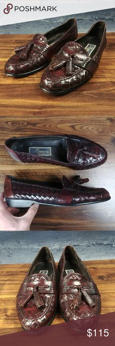 Bragano by Cole Haan Woven Leather Tassel Loafers Bragano by Cole Haan Woven Leather Tassel Loafers Mens Sz 8.5M Dark Brown Italy C25:10	:P		3.87	:L33	:15-20  Fair Condition! Shoes have some normal wear and tear, there are a few scuff marks on the front of the right shoe, See Photos!  Questions? Please ask, I try to respond immediately!   I ship daily to get you your item ASAP!   Just a common guy bringing you great deals, superb customer service is my goal.  -Cooper @ CoopsThrifts Cole Haan…