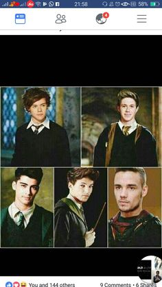 There almost all in my house but Niall.....and Liam.... females CAN go into the males dormitories.... Snape: miss rose what is that screaming coming from the girls dormitory?  Me: why would I know?! Snape: it's coming from your dormitory. Me: yeah and Amy, Taylee, and Hannah all have the common room password and plus I share a firm with Taylee! We screech all the damn time!  Snape:..... ........