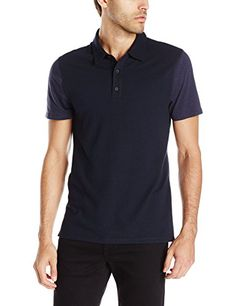 VINCE Vince Men'S Mix Stich Colorblock Short Sleeve Polo Shirt. #vince #cloth #