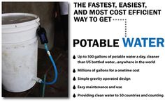 Fantastic water purification system with no filters to change and a lifetime guarantee!