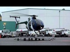 MD500 Helicopter Start up,pad takeoff and landing at KBFI Seattle