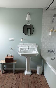 Salle de bains esprit vintage réaménagée par la décoratrice d'intérieur Charlotte Cittadini