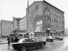 Germany / GDR, Berlin. Checkpoint Charlie, Friedrichstrasse, Kreuzberg. 1962