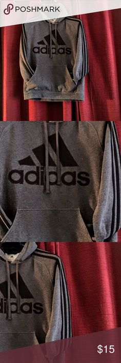 AdidasHoodie Sweatshirt Grey black logo Adidas Ultimate Hoodie Sweatshirt Sz Dnall grey /black logo embroidered  this item is in excellent condition free of any rips stains tears or holes.Condition Pre-owned Quantity1 available Brandadidas ColorGrey StyleHoodie Sleeve StyleLong Sleeve Size Type small Adidas Tops Sweatshirts & Hoodies