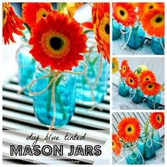 tinted-mason-jars-sea-glass-with-mod-podge-and-blue-food-dye-collage