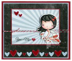 Swiss Pixie Cupid, AmyR Stamps Elegant Valentine, C.C. Cutters Make A Card #2