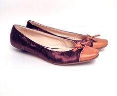 Prada Silk Flats Size 38.5