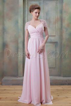 Brilliant A-Line V-Neckline Floor-Length Empire Ela's Prom Event Dress 8884985 - Evening Dresses 2014 - Dresswe.Com