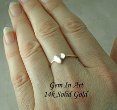 Solid Gold stacking Ring14K Solid Gold Stackable RingGold Solid Gold, Art Designs, Heart Ring, Gems, Unique Jewelry, Handmade Gifts, Amazing, Rings, Art Projects