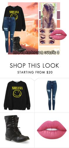 """""""Untitled #22"""" by hippielilicaxo ❤ liked on Polyvore featuring Chicnova Fashion, Topshop and Lime Crime"""