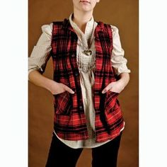 Lumberjack chic  http://www.craftstylish.com/item/53897/how-to-make-a-vest-from-a-plaid-shirt