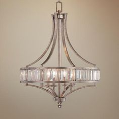 Soft Silver Wide Crystal Chandelier - from Lamps Plus Room Lamp, Room Lights, Light, Dining Room Chandelier, Foyer Lighting, Crystal Chandelier, Entryway Lighting, Floor Lamp Design, Floor Lamps Living Room