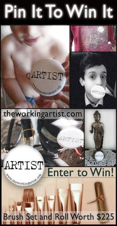 The Working Artist Pin It to Win It Contest.
