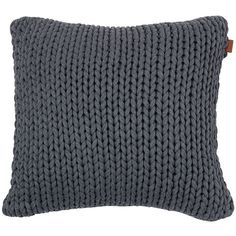 Gant Big Knit Cushion - 50x50cm - Anthracite ($130) ❤ liked on Polyvore featuring home, home decor, throw pillows, grey, gray accent pillows, knit throw pillow, grey accent pillows, gant and grey home decor