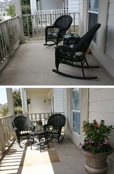 When staging a home for sale the outside is just as important as the inside. A few simple changes and a live colorful plants will give you exterior a fresh look. www.robynporter.com