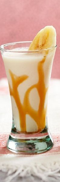A little something to go with your French toast ------> Bananas Frosters Cocktails.