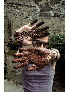 Mehndi on Boy's hands