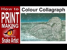 How to Collagraph Print in Colour. (printmaking) - YouTube 2.23.17. In this tutorial, the artist is using an additive method to make his collagraph. I like this piece because of the texture.