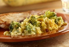 What makes this quick-cooking side dish really tasty is coating the broccoli and rice in a creamy cheese sauce...yum.