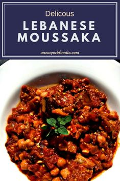 Lebanese Moussaka is a delicious Lebanese dish using eggplant, onions and chickpeas. A perfect side dish for your dinners!