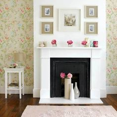 Ideas of Using Faux Fireplace in Home Interior Design – Top Decor and Design Ideas Unused Fireplace, Fireplace Update, Fake Fireplace, Fireplace Design, Fireplace Ideas, White Fireplace, Simple Fireplace, Fireplace Modern, Fireplace Wall
