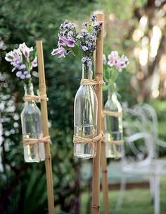 87 Brilliant Garden Wedding Decor Ideas I've got a bunch of bamboo stakes. - 87 Brilliant Garden Wedding Decor Ideas I've got a bunch of bamboo stakes I picked up at a - Free Wedding, Diy Wedding, Wedding Ceremony, Rustic Wedding, Wedding Flowers, Wedding Ideas, Small Garden Wedding, Wedding At Home, Wedding Happy