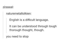 I am fluent in English, and reasonably educated. And I stumbled a little bit. It's like a tongue twister.