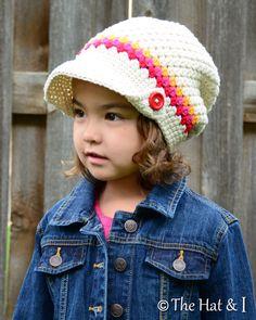 CROCHET PATTERN - Newsboy Slouchy - crochet slouchy hat pattern, crochet hat pattern (Toddler Child Adult sizes) - Instant PDF Download by TheHatandI on Etsy https://www.etsy.com/listing/192397732/crochet-pattern-newsboy-slouchy-crochet