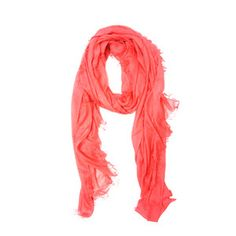 Oversized Frayed Scarf Coral, $29, now featured on Fab.
