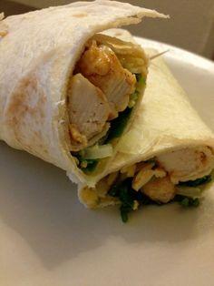 Eenvoudige chicken wrap
