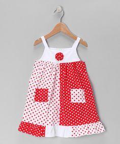 Red Polka Dot Pocket Dress - Infant, Toddler & Girls by Fantaisie Kids #zulily #zulilyfinds