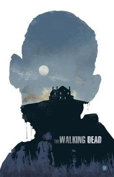 Walking Dead poster by Michael Rogers