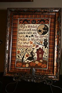 Prairie Schooler When Witches Go Riding, fabric frame finishing