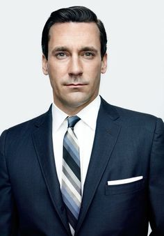Jon Hamm as Don Draper -  Found on imnotwordy.com