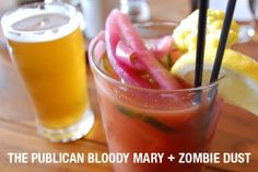 The Publican bloody mary. Zombie Dust beer back? YES PLEASE! #brunch #chicago #threefloyds