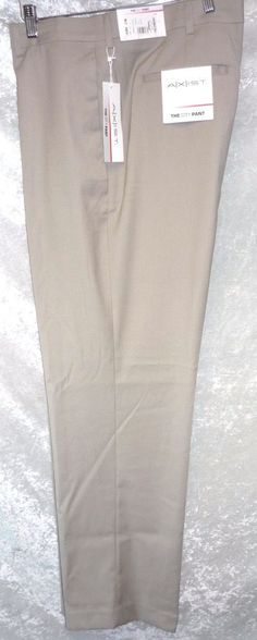 Axist Mens Dress Pants mid rise flat front solid whit 4 pocket size NEW Mens Dress Pants, Men's Pants, Men Dress, Dress Flats, Slacks, Pajamas, Mens Fashion, Mens Tops, Ebay