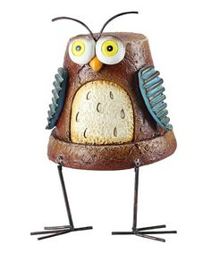 This darling figurine adds visual interest to any mantelpiece or tabletop. Its rustic design helps bring a touch of the country to any home, whether rural or in the middle of the big city. Flower Pot People, Clay Pot People, Clay Pot Projects, Clay Pot Crafts, Clay Flower Pots, Flower Pot Crafts, Garden Owl, Garden Crafts, Painted Clay Pots