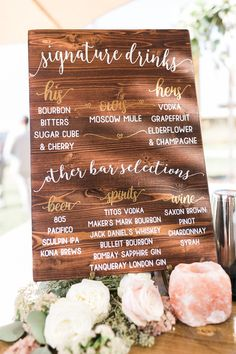 40 best wedding signature drink ideas from rockinchalk bar wedding signature drinks sign made by kylzgrl junglespirit Gallery