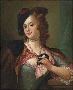 Pietro Rotari (1707 - 1762) Love her little hat!