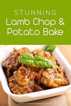 This Stunning Lamb Chop and Potato Bake dish is one that both adults and kids will love, a perfect wholesome dinner that's guaranteed to satisfy. Lamb Chop Casserole, Lamb Casserole Recipes, Lamb Chop Recipes, Meat Recipes, Slow Cooker Recipes, Chicken Recipes, Cooking Recipes, Baked Lamb Recipes, Baked Lamb Chops