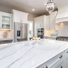 Another View Of This Beautiful Kitchen Using Cambria Brittanicca Quartz For The Countertop Island Has An Ogee Edge Profile